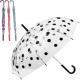 Regenschirm 74cm Stock transparent mit Farben Punk