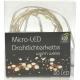 Micro LED lichte keten 20 met draad, 2 meter, in
