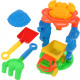 Sand playset 6-piece 20x13cm with truck and 2 mold