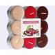 Teelichter Schokolade - Kirsche 18er Pack, 3 Farbe