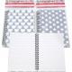 Spirale bloc-notes A5 80 feuilles Design étoiles