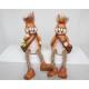 Randen seater bunny met mand + haar 18x12x7cm