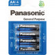 Batterie Panasonic R6 AA 4-pack sur la carte