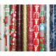 Geschenkpapier 5mx70cm mit Weihnachts-Motiven,