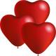 3 ballonnen hartvormige 24cm diameter,