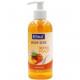 Soap liquid Elina 300ml peach with dispenser