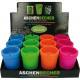 Aschenbecher Colors sortiert im Display 11x8cm
