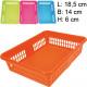 Frosty Basket 19x14x6cm 4 kleuren geassorteerd