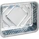 Grill trays 3 aluminium 20x15x4cm square