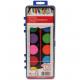 caja de color de agua 12 XL color y cepillo 21x8cm