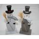 Sneeuwman houten XL 6x3,8x 15,7cm, 2-sortie