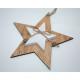Percha de madera de doble estrella 14,7x 1,8 cm co