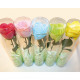 Soap rose with stem 52,5x5cm, colors assorted
