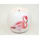 Teelichthalter XL 9x8cm met Flamingo keramische