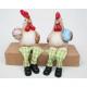 Hahn en kip als edge personen 17x10x8cm, 2-