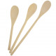 jeu de cuillère de cuisson 3 en bois de 30 cm, 25,