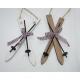 Ski houten 17x8cm met skistokken en Karoband