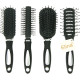 Hairbrush with rubberized handle 17cm 4-way sortie