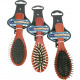 Hairbrush wood massage 18cm 3- times assorted
