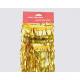 Tinsel foil strip gold 47cm for decoration,