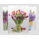 Gift tas XL tulpen, seringen en tulpen boeket