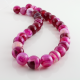 Agate Rose - round beads - 12 mm