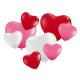 8 heart balloons, assorted