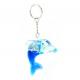 Delfin mit Flüssigkeit an Schlüsselanhänger - ca 6