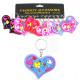 Kleurrijke hart op keychain - ca 6,5x5cm