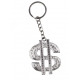 Dollarzeichen Metall silber an Schlüsselanhänger -