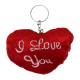 coeur en peluche Je t'aime à porte-clés - envi