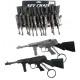 Guns assorted on keychain ca 15,5 cm