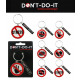 DO NOT - DO IT Keychain 6 times assorted -