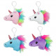 Unicorn on carabiner 4- times assorted about 10 cm
