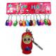 Bambola di legno su Keychain - circa 3,5 centimetr
