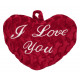 Heart red with signature -I love you - ca 30cm