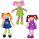 Braided doll 3- times assorted ca 32 cm