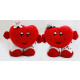Heart with face, arms, legs and mouse 2-fold -