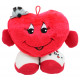 Plush heart with arms and legs standing ca 24x28cm