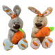 Rabbit sitting with carrot 2 times assorted ca 22