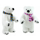 Polar bear with scarf 2 times assorted standing ab