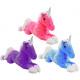 Unicorn lying 3 colors assorted ca 52 cm
