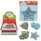 Adesivo glitter auguri di Natale su carta ca 17x1