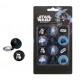 gomma Star Wars circa 28 mm su scheda 20,5x11 cm