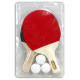 Table tennis in double blister 29x18,5cm ca