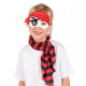 Oogmasker Pirate stof voor kinderen