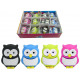 Eraser owl colored assorted ca 3.5cm