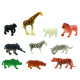 Zoo animals 10 times assorted about 3-5,5cm