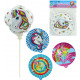 Foil balloon self-inflating unicorn motif 4 color