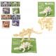 Puzzle Dinosaur 15 sztuk w torbie około 13,5x9,